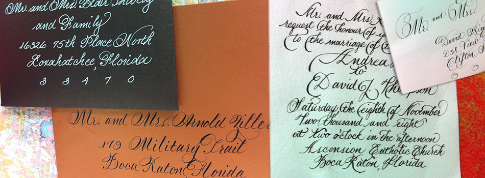 Palm Beach Calligraphy Services