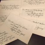 The most popular style for addressing wedding invitations