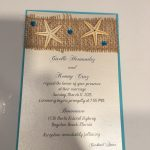 Starfish and gems invitation