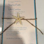 starfish and jute invitation