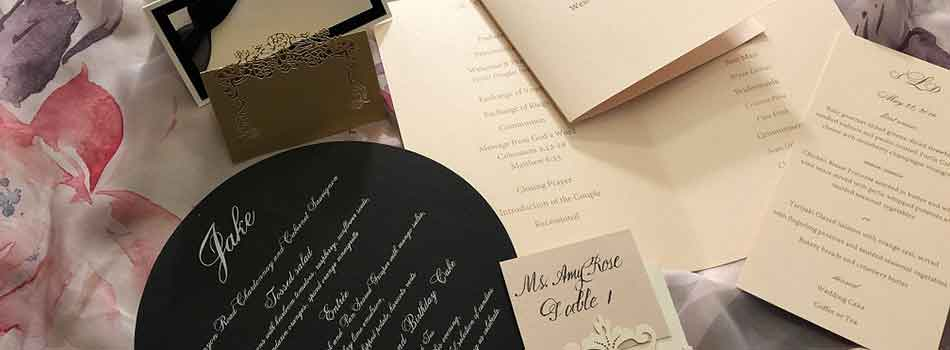 Parkland FL Calligrapher and Invitations for Weddings Bar Mitzvahs