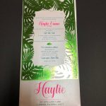 Palm Tree Laser Cut Bat Mitzvah invitation