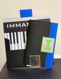 Piano bar mitzvah invitation by Charu