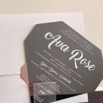 Diamond bat mitzvah invitation by Charu