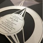 Mercedes Benz bar mitzvah invitation by Charu